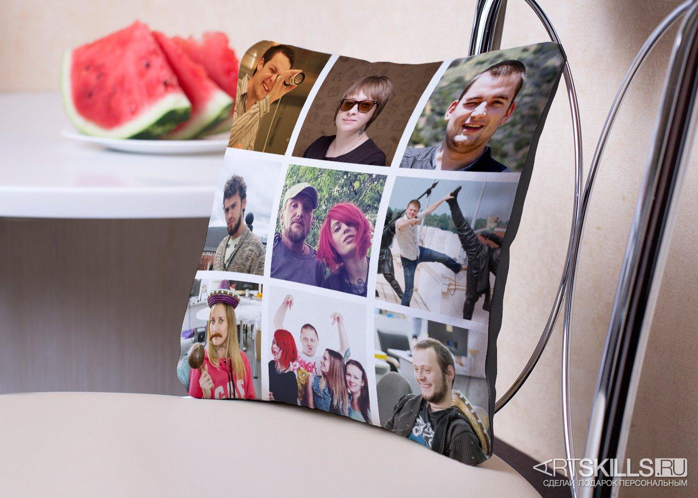 Подушка «Instasleep» с вашими фотографиями подарить