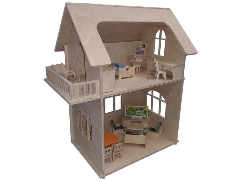 Домик двухэтажный для куклы подарить