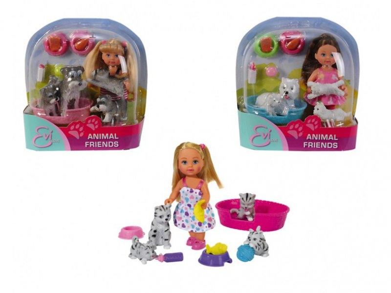 Кукла Simba, Еви с домашними животными
