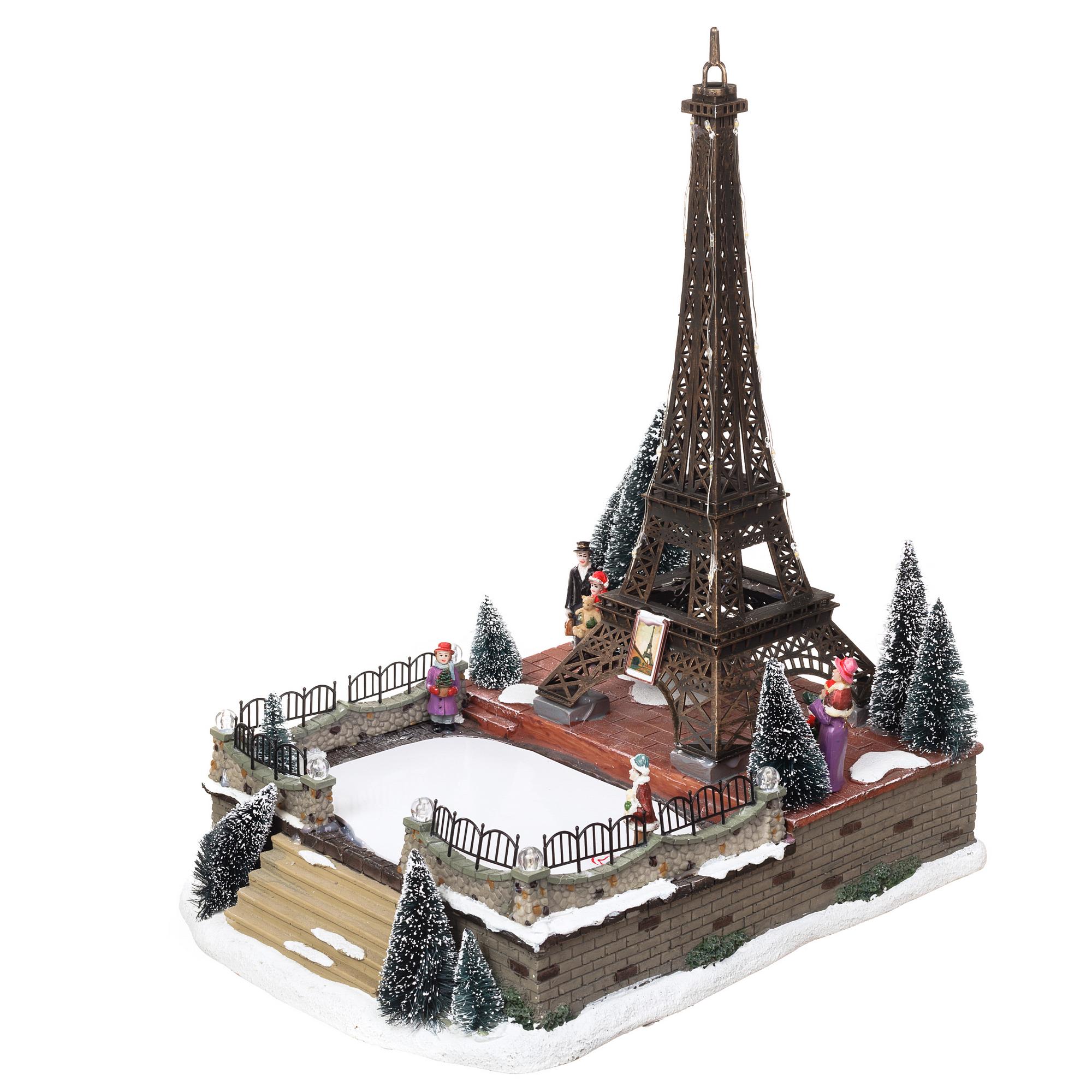 Новогоднее украшение каток Париж подарить