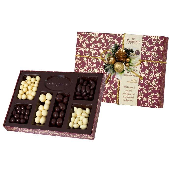 Новогодний набор орехов в шоколаде «Ореховая фантазия» подарить
