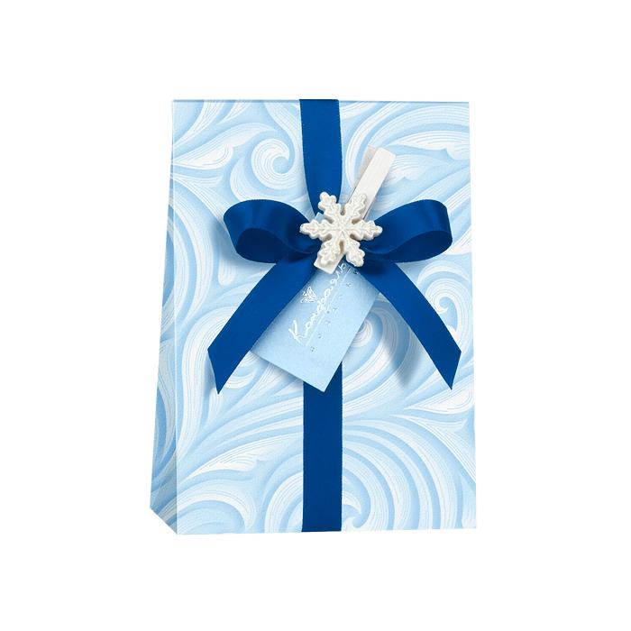 Новогодний набор суфле в голубой упаковке подарить
