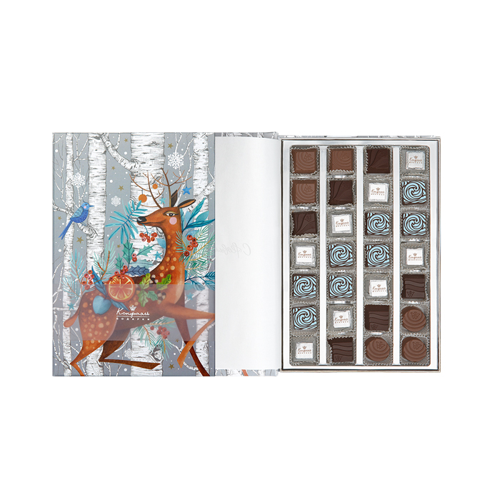 Новогодний подарочный набор конфет с оленем