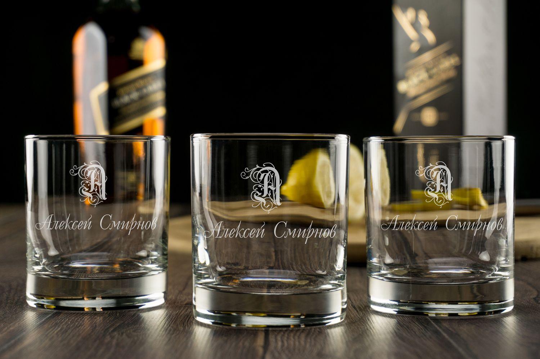 """Набор бокалов для виски """"Именной"""""""