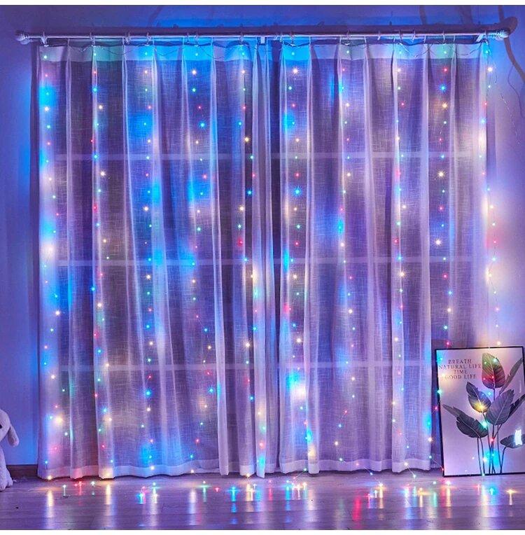 LED Шторы на стену с подсветкой подарить